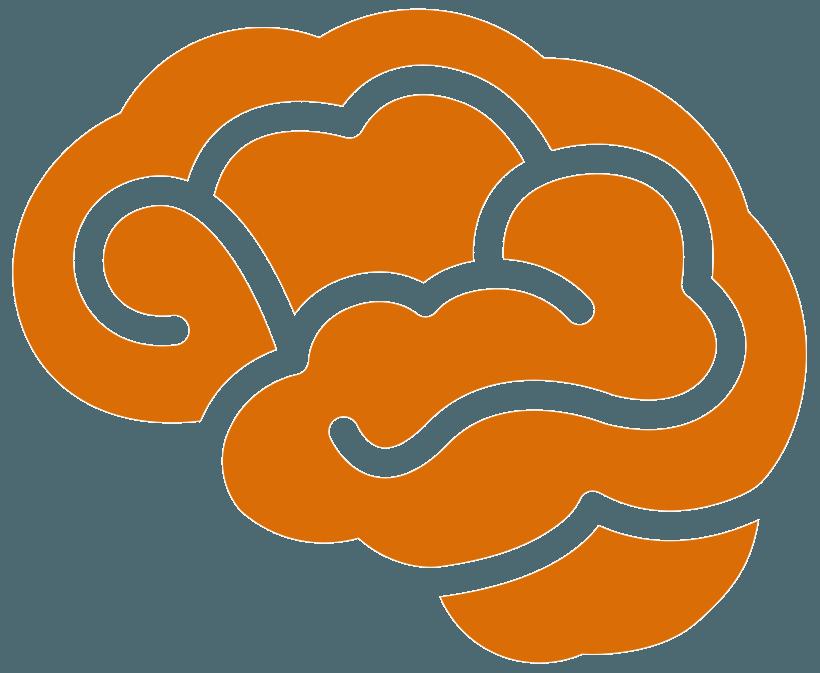 orange brain graphics brain injury law of seattle logo